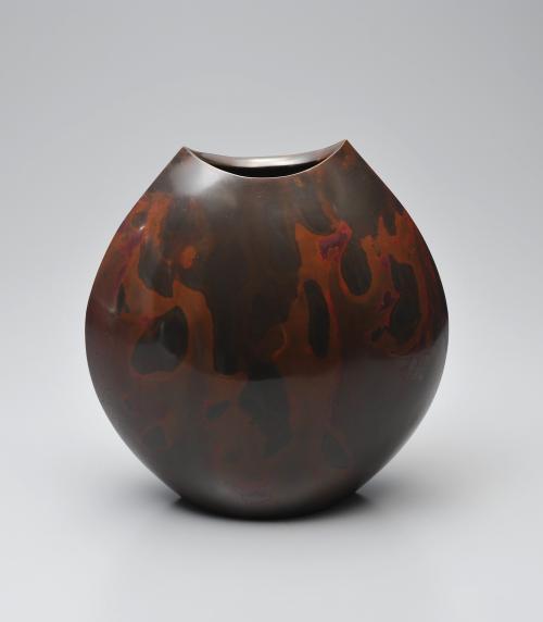 鋳紫銅花器「季をまつ」