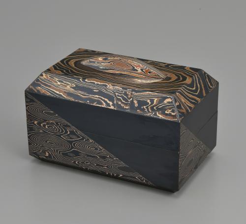 金銀銅杢目金飾箱「流水」