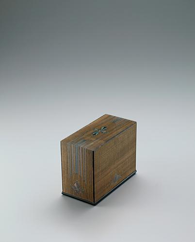 神代欅有線寄木象嵌箱