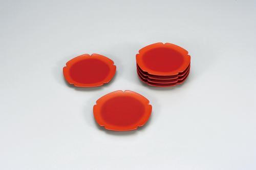 乾漆五弁銘々皿