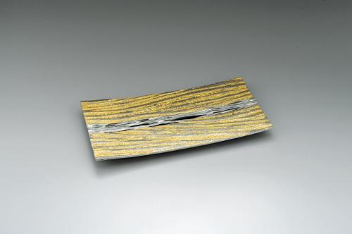 蝋型白銅金彩盛器