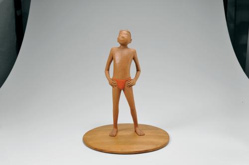 木彫木目込「夏の使者」