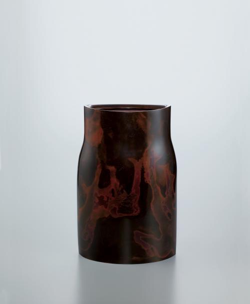 鋳紫銅花器「兆し」