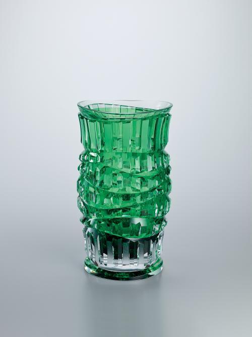 硝子切子花瓶「翠樹」