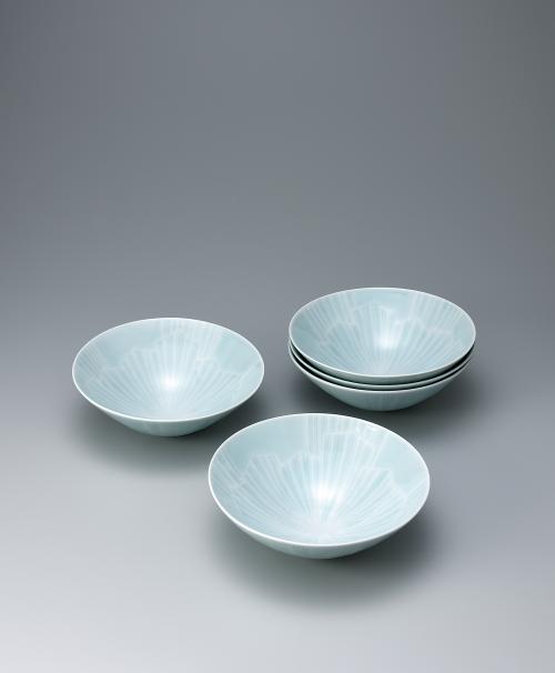 青白磁氷晶組鉢