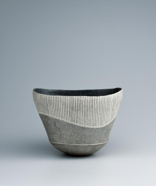 銀泡彩線文鉢