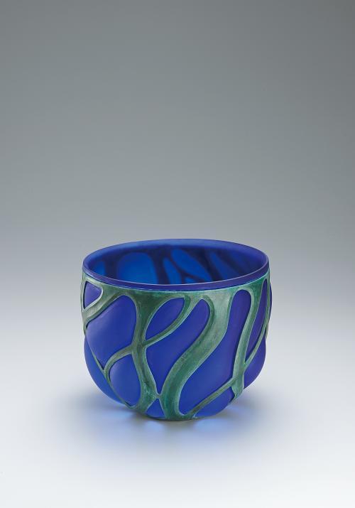 蠟型青銅吹込硝子鉢