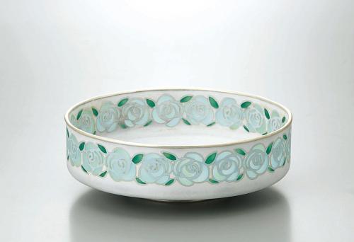 透胎七宝青薔薇紋鉢
