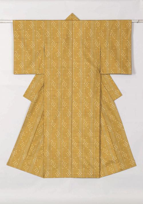紬織着物「八十八夜の雫」