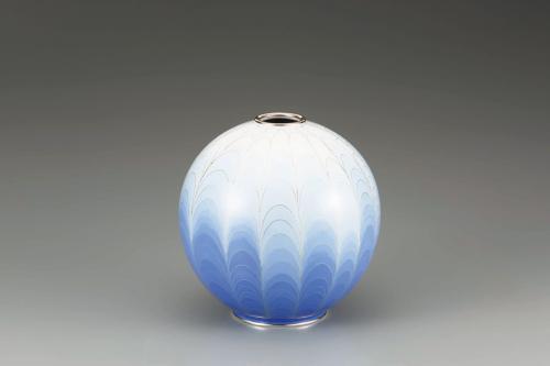 有線七宝抽象文花瓶