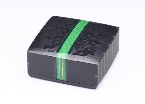 沈黒象嵌小箱「若楓」