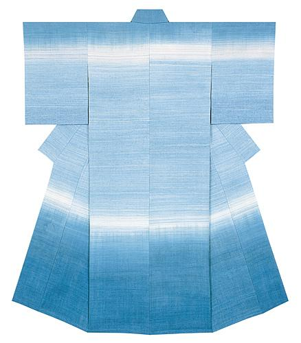 紬織着物「春の海」
