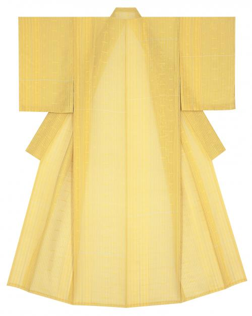 縠織着物「黄色い花の咲く頃」