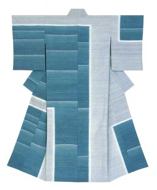 紬織着物「古の碧」
