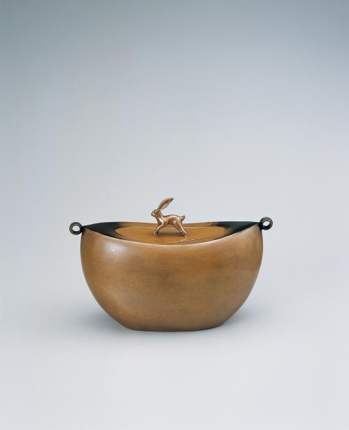 蠟型黄銅扁壺「月明」
