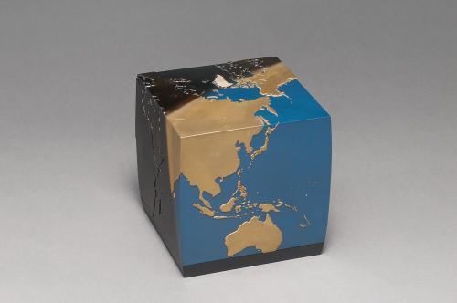 高盛絵四角い地球箱