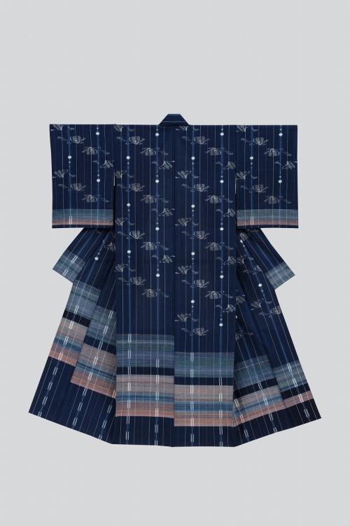 和紙入り木綿絣着物「祈り」