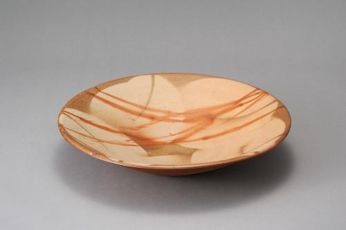 備前緋襷ボタモチ大平鉢