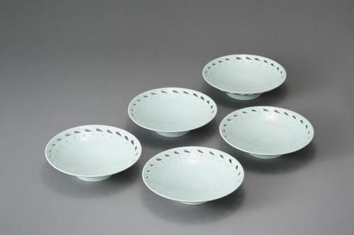 線彫り鉢 5枚揃