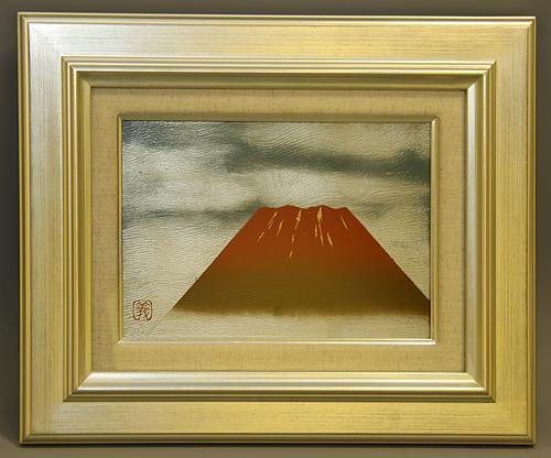 赤富士漆額