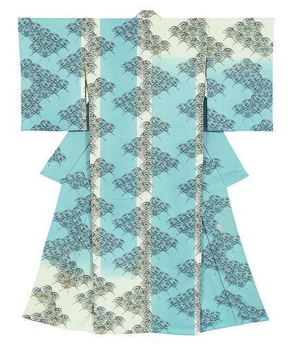 木版摺更紗着物「叢葉」
