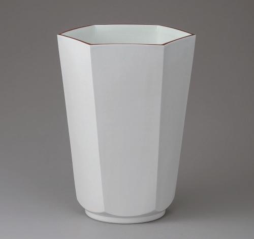 白磁六角花器