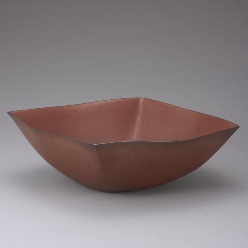 赫釉四方鉢