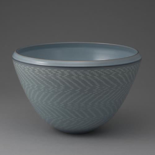 青磁象嵌鉢