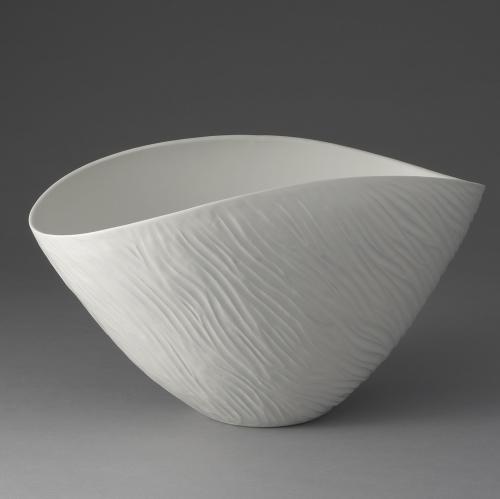 白磁釉象嵌鉢