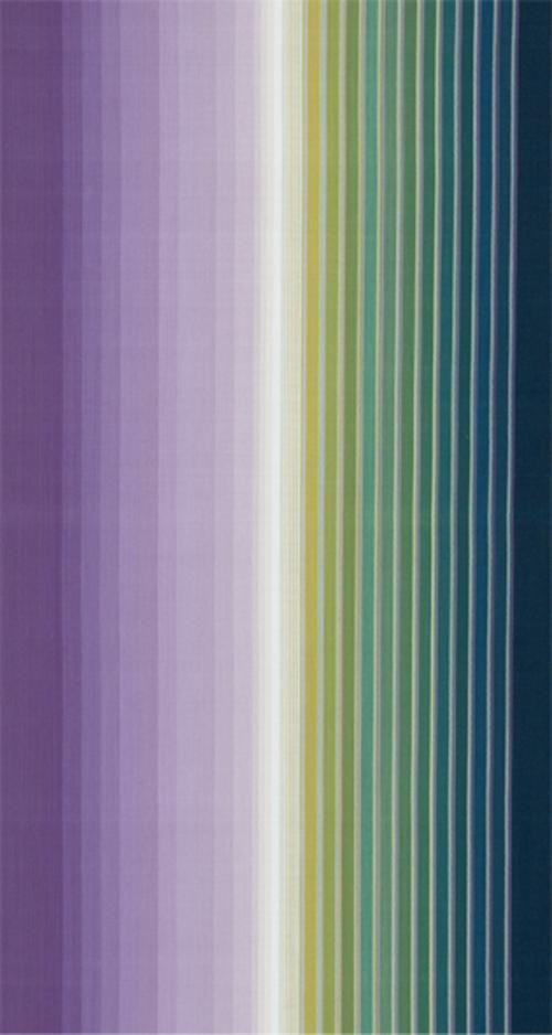 小倉縞木綿帯「紫翠邂逅」